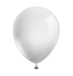 White balloon isolated on white background vector