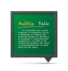 3D bubble talk blackboard vector image vector image