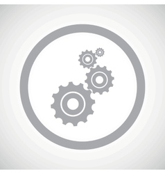 Grey settings sign icon vector