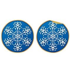 snowflake sticker vector image