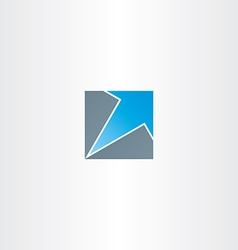Blue arrow in square icon vector