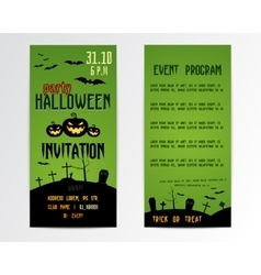Happy halloween greeting cards flyer vector