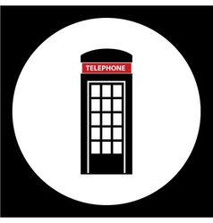 Phone booth simple black isolated icon eps10 vector