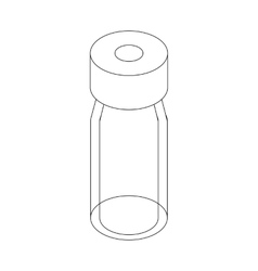 Medical glass bottle icon isometric 3d style vector