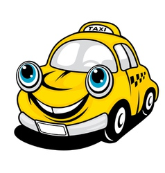 Cartoon taxi vector