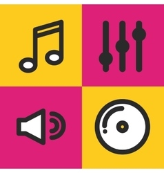 Music set icons design vector
