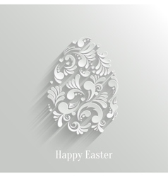 Abstract Background with Floral Easter Egg vector image vector image
