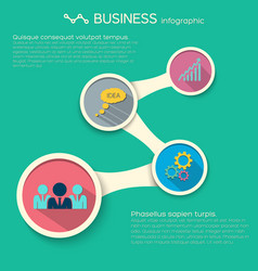 abstract infographic business template vector image vector image