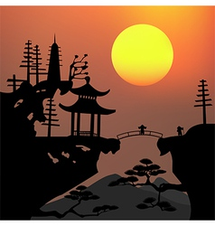 Asian landscape3 vector image vector image
