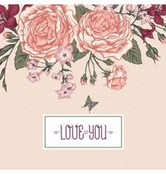Beautiful Victorian Roses in Vintage Style for vector image vector image