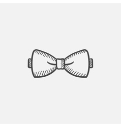 Bow-tie sketch icon vector