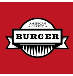 Burger - American Classic vintage stamp vector image