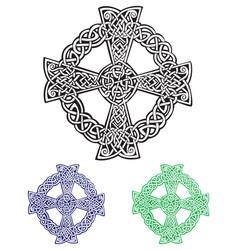 celtic cross vector image vector image