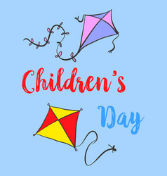 Children day colorful cute style vector
