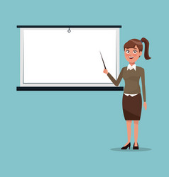 Color background executive woman in work vector