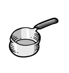 Cooking saucepan vector