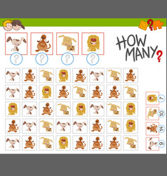 count the dogs activity vector image vector image
