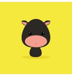 Cute cartoon wild sheep vector
