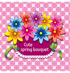 Flowers in the pocket vector image