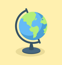 globe school supplies vector image
