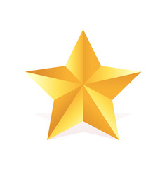Gold metall star award 3d shape vector