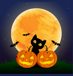 happy halloween day bat and spider cute vector image
