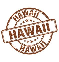Hawaii brown grunge round vintage rubber stamp vector