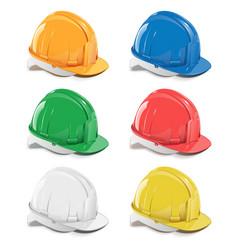 Helmet icons vector