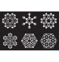 Israel jew ethnic fractal mandala looks like vector