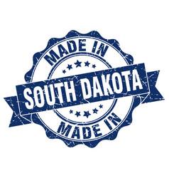made in south dakota round seal vector image