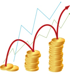 money graph vector image