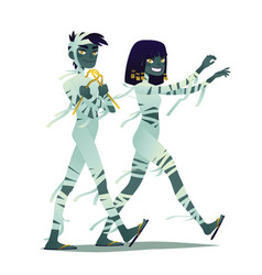 mummy couple halloween characters vector image vector image