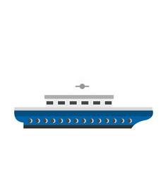 Passenger ship icon flat style vector