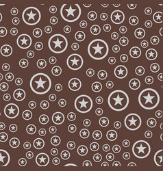 Seamless pattern with stars decorative modern vector