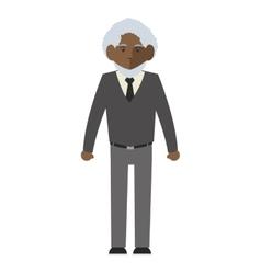 Senior man icon vector
