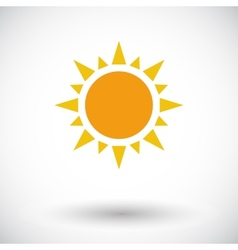 Sun single flat icon vector image