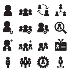 user businessman avatar icons set vector image vector image