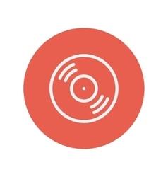 Vinyl disc thin line icon vector image vector image