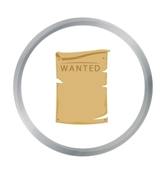 Wanted icon cartoon singe western icon from the vector