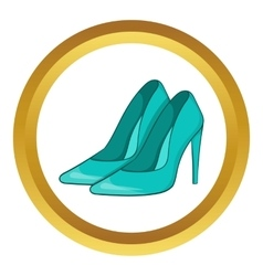 Women blue shoes icon vector