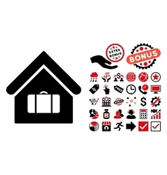 Luggage room flat icon with bonus vector