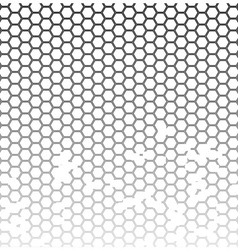 Honeycomb grunge vector