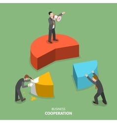 Business cooperation isometric flat concept vector image