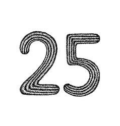 Dotwork twenty five vector