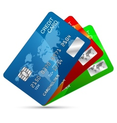 Credit cards set vector