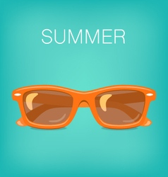 Summer background with glasses vector