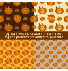Halloween seamless patterns vector image