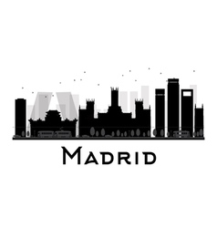 Madrid silhouette vector