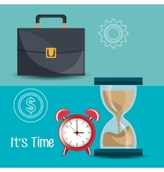 Business and management time vector