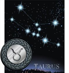Taurus zodiac sign bull logo vector